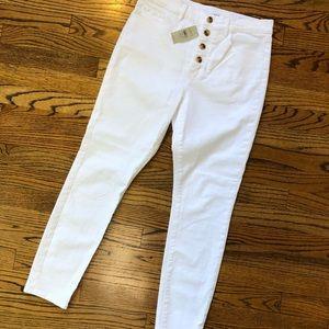 Loft Slim Pockets High Waist Skinny Jeans NWT